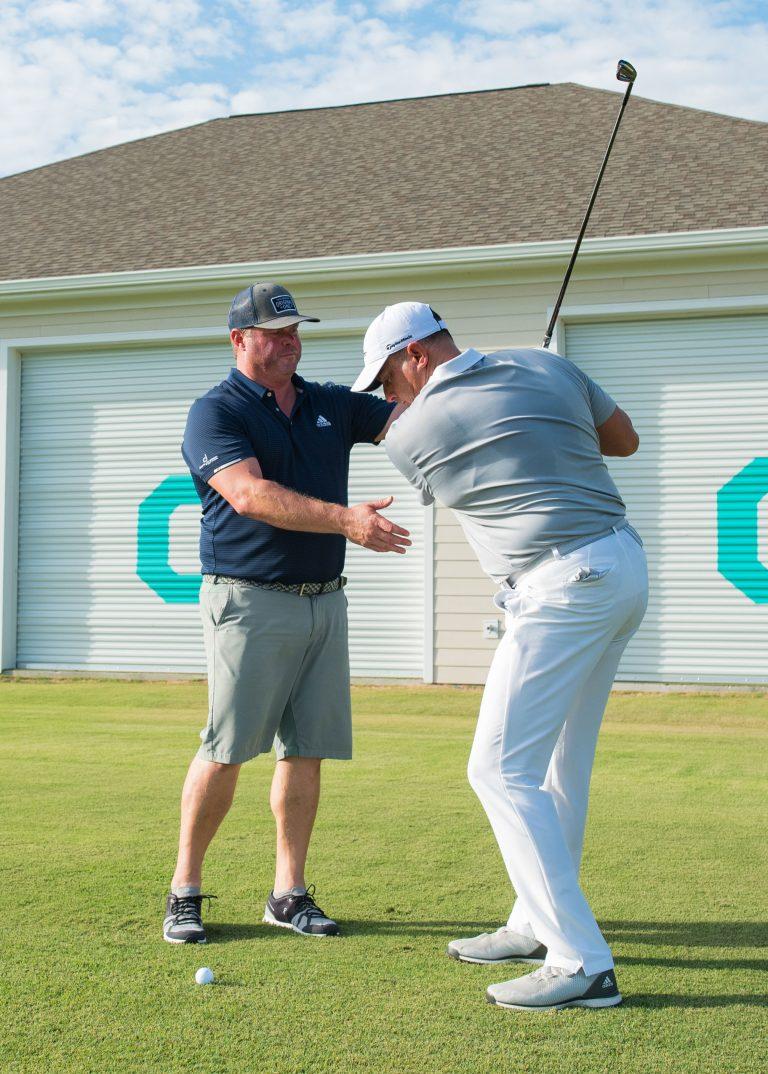 Allen Terrell Coaches a Golf Student